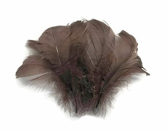 "Wholesale Feathers, 1/4 Lb - Brown Goose Coquille 2-3"" Loose Wholesale Feathers (Bulk) : 4318"