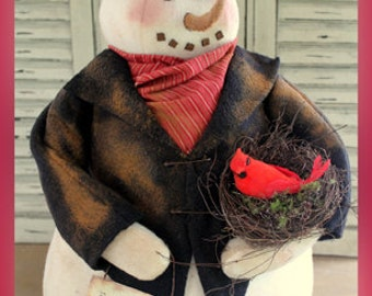 "Primitive Snowman PATTERN ""Mr Snowfellow"" CF 893"