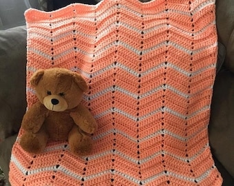 baby blanket, baby afghan, crochet baby blanket, crochet throw, baby shower gift, baby bedding, photo prop, nursery blanket, crib blanket
