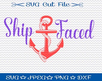 Ship Faced SVG File Download / SVG Cut File for Silhouette or Cricut / Nautical svg