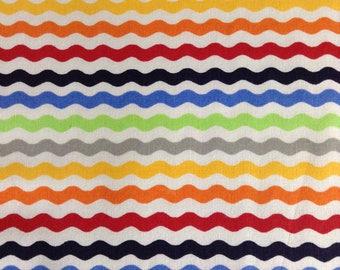 SALE - One Half Yard  of Fabric - Ric Rac Stripe