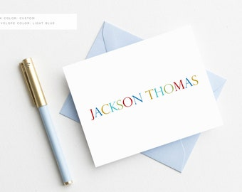 Personalized Stationery Set for Boys | Boy Stationary | Baby Boy Thank You Cards | Baby Boy Gifts