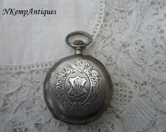 Antique pocket watch 1900 real silver