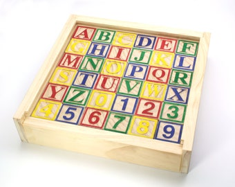Wooden Alphabet and Number Block Set