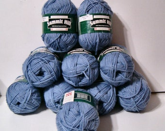 Summit Hill  Merino Superwash Wool Yarn 10 Skein Lot