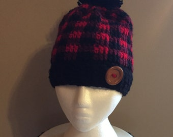 Plaid(Lumberjack) Crochet Hat