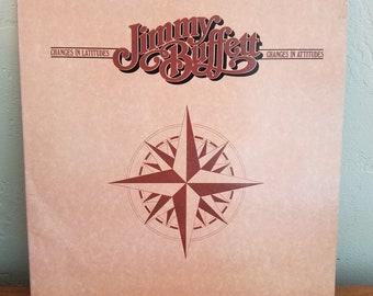 Jimmy Buffett Record - Changes in Latitudes Changes in Attitudes - Vintage Vinyl LP 1977 - includes Margaritaville