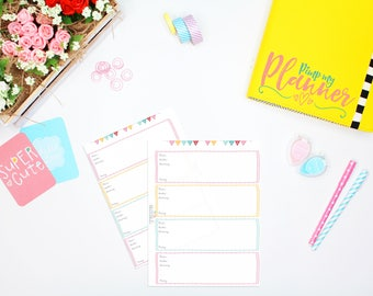"""Inserts """"Books to read"""", Printable Planner Inserts, A5 planner Insert"""