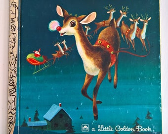 Rudolph the Red-Nosed Reindeer by Barbara Shook Hazen --- Illustrated by Richard Scarry --- Vintage Classic Christmas Fairy Tale Story Book