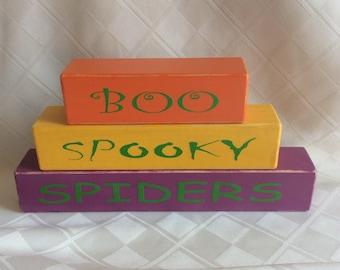 Halloween, holiday decorations, shelf sitters, desk sitters, seasonal decorations