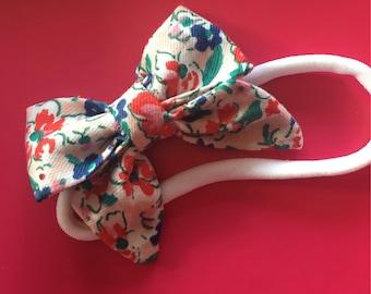 Ditsy print bow hairband