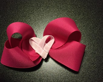 Valentine Hair Bow, Valentine Boutique Hair Bow, Toddler Hair Bow, Girl Hair bow