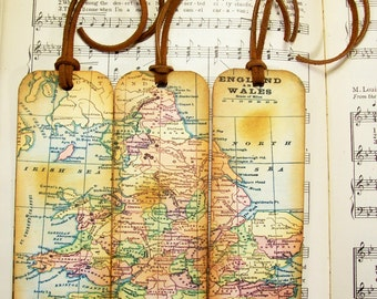 Scotland map bookmarks for men historical map bookmarks set england wales map bookmark circa 1935 old world map gifts for men historical map bookmarks gumiabroncs Gallery