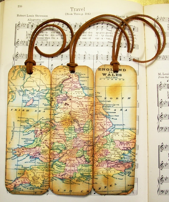 England wales map bookmark circa 1935 old world map gifts like this item gumiabroncs Gallery