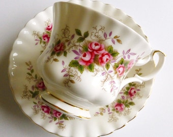 Vintage Royal Albert Lavender Rose Bone China Teacup & Saucer, Made in England. Perfect for a Vintage Tea Party, Gift or Styling Prop