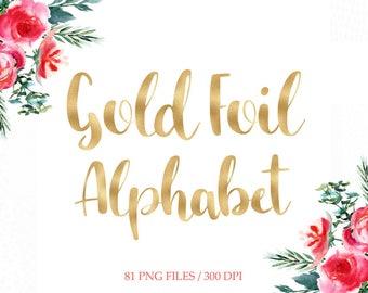 Gold foil alphabet clipart,  gold digital letters, golden foil alphabet,gold foil font clipart, gold numbers, download