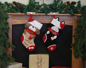 Personalised 3D Fun Pet Christmas Stockings