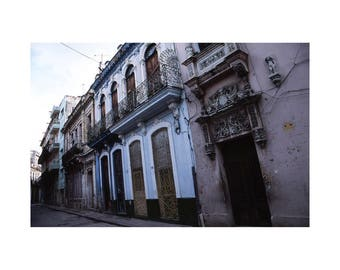 Architecture, Old Havana, Cuba, Signed Art Print / Cuban Architecture Photography / Havana Building Facade Photo
