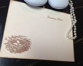 Baby wish tree cards-wish tree cards-Bird nest wish cards-Bird nest- set of 12