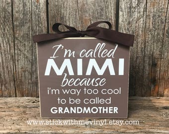 Mimi gifts, Personalized gifts, I'm called MIMI, Mother's day gift, grandmother gift, gifts for her, gifts for mom, gift for Mimi, gift idea