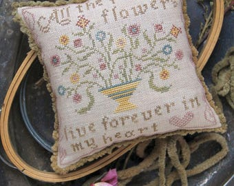 All the Pretty Flowers : Cross Stitch Pattern by Heartstring Samplery