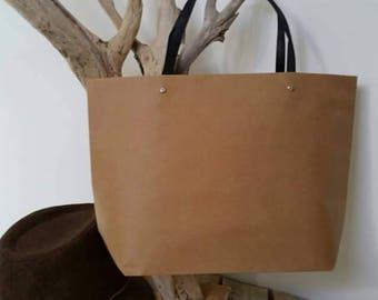 Great original tote bag in natural Brown kraft paper