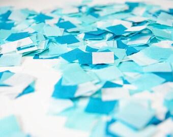 Aqua Blue Confetti, Biodegradable Confetti, Baby Boy Birthday, Baby Boy Cake Smash, Gender Reveal, Blue Confetti, Aqua Confetti, Blue Party