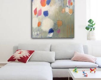 Printable art, abstract painting, Living room wall art, contemporary art, abstract wall art, modern art painting, bedroom print, lets go