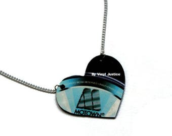 Motown Love. Record necklace hand cut from a pre-loved record on The Motown Label.