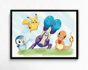 Love Pokemon - Digital Print