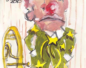 Homage to Bernard Buffet - the clown
