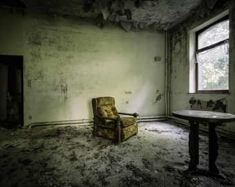 The brown chair