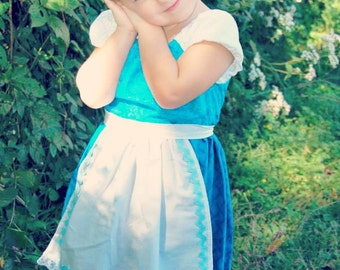 Belle's Blue Provincial Inspired Play Dress sizes 3T-10