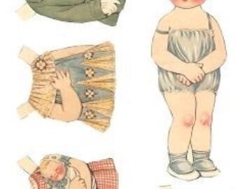 E-Pattern Vintage Dolly Dingle Paper Doll And Cross Stitch Pattern 04