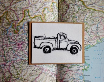 Art Cards---Stitched Truck
