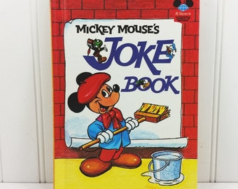 Mickey Mouse's Joke Book, Disneys Wonderful World of Reading Book Club 1973 D Printing
