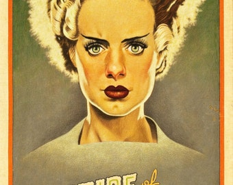 Bride of Frankenstein reproduction poster print