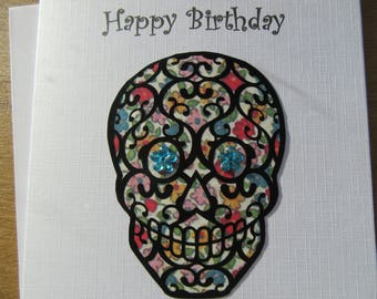 Sugar skull  Happy Birthday card