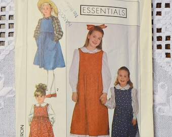 Simplicity 9328 Sewing Pattern Childs Girls Jumper in 2 Lengths Sizes 5 6 6X DIY Sewing Vintage Sewing Pattern PanchosPorch