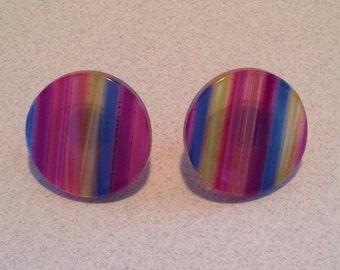 Vintage Rainbow Pride Earrings