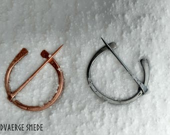 Hand Forged Penanular brooch. Copper or Steel.