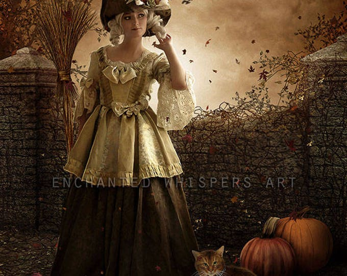Halloween Witch art print by Enchanted Whispers