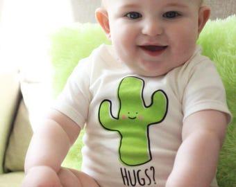 Natural Cactus Hug T-Shirt - Organic Triblend