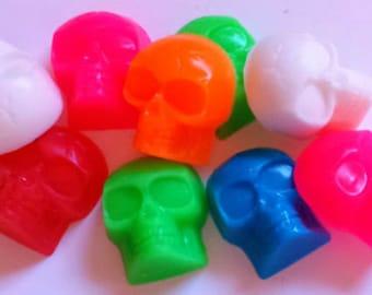 Skull Soap - Skulls - FREE U.S. SHIPPING - Party Favors - Soap for Kids - Skeleton - 3-D - 8 soaps