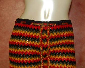 Crochet Rasta Shorts
