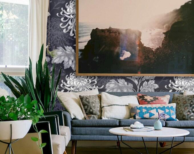 Blue Flowers Wallpaper - Asian Wallpaper