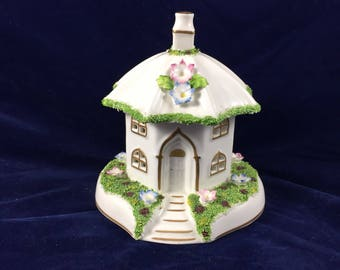 Coalport Umbrella House pastille burner.