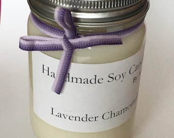 ByAllison // Handmade Soy Candle // Lavender Chamomile // Small Size