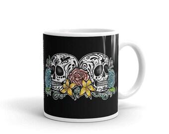 DOS CALAVERAS / Two Sugar Skulls Coffee Mug
