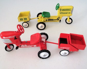 Hallmark Kiddie Car Classics Set Of Two Tractors